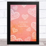 Fallen In Love Many Times With You Home Wall Art Print