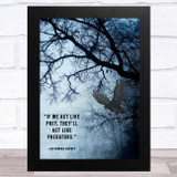 Bird In Tree Act Like Prey Gothic Home Wall Art Print