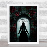 Gothic Beware For I Am Fearless Home Wall Art Print