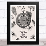 Gothic Tick Tock Goes The Clock Home Wall Art Print