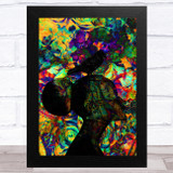 Raven On Women's Head Abstract Home Wall Art Print