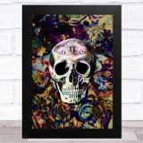 Skull Gothic Butterfly Floral Home Wall Art Print