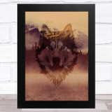 Wolf Mountains Gothic Mystic Home Wall Art Print