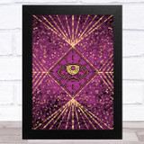 Gold & Purple All Seeing Eye Home Wall Art Print