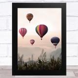 Hot Air Balloons Design 2 Home Wall Art Print