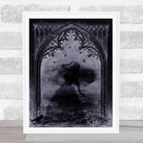 Gothic Archway And Woman Home Wall Art Print