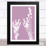 Dusky Lavender Flowers Home Wall Art Print