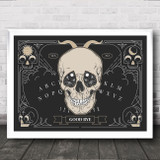 Ouija Skull Gothic Home Wall Art Print