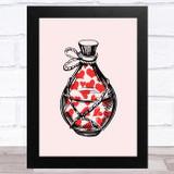 Love Poison Bottle Home Wall Art Print