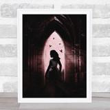 Gothic Arch Woman Home Wall Art Print