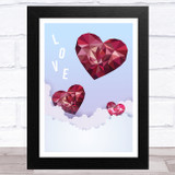 Clouds And Hearts Home Wall Art Print