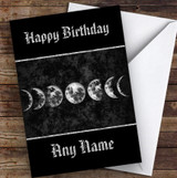 Moon Phases Wall Art Gothic Personalised Birthday Card