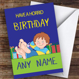 Have A Horrid Henry Children's Kids Personalised Birthday Card