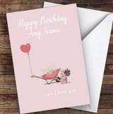 Wheelbarrow Heart Ps I Love You Romantic Personalised Birthday Card