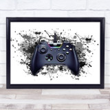Gaming Xbox Controller Splatter Art Children's Kid's Wall Art Print