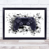 Gaming PS Controller Splatter Art Children's Kid's Wall Art Print