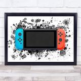 Gaming Switch Splatter Art Children's Kid's Wall Art Print