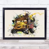 Cars Miss Fritter Children's Kid's Wall Art Print
