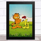 Garfield And Odie Children's Kid's Wall Art Print