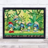 The Smurfs Leaves Children's Kid's Wall Art Print