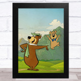Yogi Bear Vintage Children's Kid's Wall Art Print
