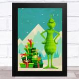 The Grinch Retro Children's Kid's Wall Art Print