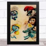 The Smurfs Retro Children's Kid's Wall Art Print