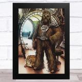 Chewbacca Retro Children's Kid's Wall Art Print