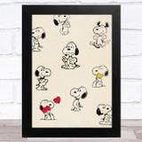 Snoopy Vintage Children's Kid's Wall Art Print