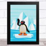 Pingu On Ice Children's Kid's Wall Art Print