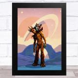 Groot Blue Children's Kid's Wall Art Print