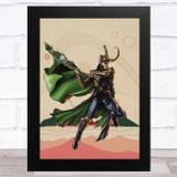 Loki Retro Children's Kid's Wall Art Print