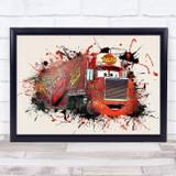 Cars Mack Children's Kid's Wall Art Print