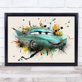 Cars Flo Children's Kid's Wall Art Print