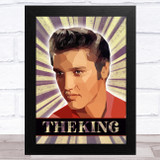 Elvis Presley Polygon The King Vintage Burst Celeb Wall Art Print