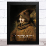 Renaissance Humour Pauper Mates Rates Funny Eccentric Wall Art Print