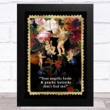 Renaissance Humour Angels & Flowers Funny Eccentric Wall Art Print