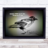 Quote Sometimes You've Got To Jump Crow Grunge Gothic Wall Art Print