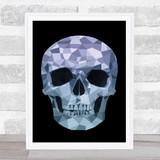 Polygon Skull Gothic Gothic Wall Art Print