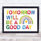 Captain Tom Tomorrow Will Be Watercolour Rainbow & Letters Wall Art Print