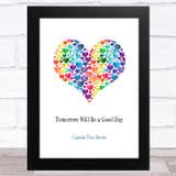 Captain Tom Tomorrow Will Be Rainbow Hearts In Heart Statement Wall Art Print