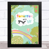Captain Tom Tomorrow Will Be Rainbow Forest Statement Wall Art Print