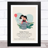 Daddy's Princess Design 1 Dad Father's Day Gift Wall Art Print