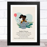 Daddy's Princess Design 10 Dad Father's Day Gift Wall Art Print