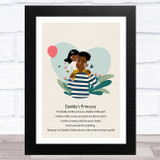 Daddy's Princess Design 11 Dad Father's Day Gift Wall Art Print