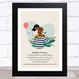 Daddy's Princess Design 12 Dad Father's Day Gift Wall Art Print