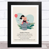Daddy's Princess Design 13 Dad Father's Day Gift Wall Art Print