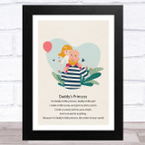 Daddy's Princess Design 14 Dad Father's Day Gift Wall Art Print