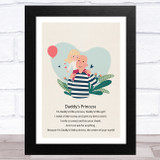 Daddy's Princess Design 15 Dad Father's Day Gift Wall Art Print