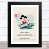 Daddy's Princess Design 16 Dad Father's Day Gift Wall Art Print